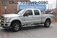 2011 FORD SUPER DUTY F-350 SRW Lariat FX4 Crew Pickup 4X4 Turbo Diesel