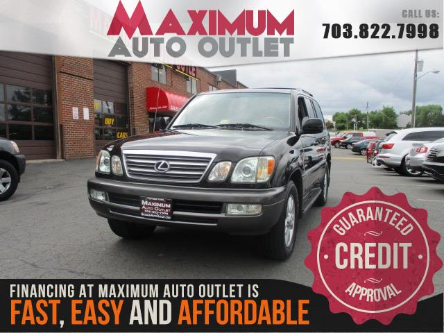 2005 lexus lx 470 manassas park virginia maximum auto outlet va 20111. Black Bedroom Furniture Sets. Home Design Ideas